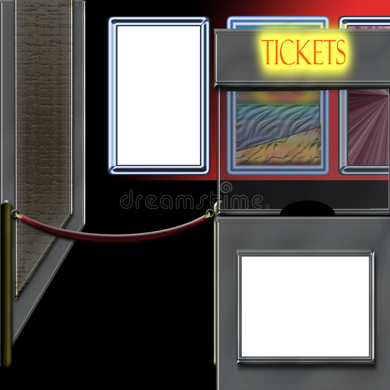 Theater Ticket Booth stock illustration