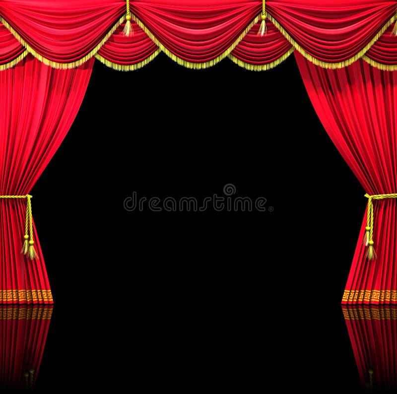 Theater-Trennvorhänge lizenzfreie abbildung