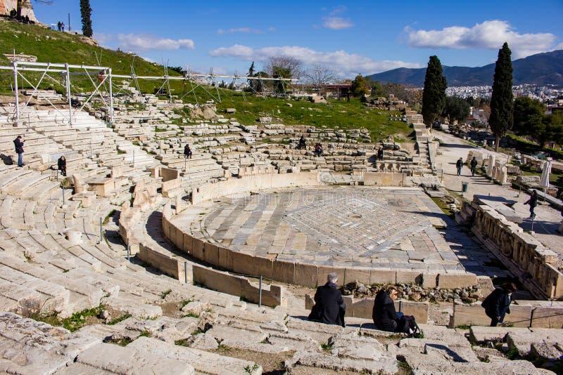 Theater van Dionysus stock foto