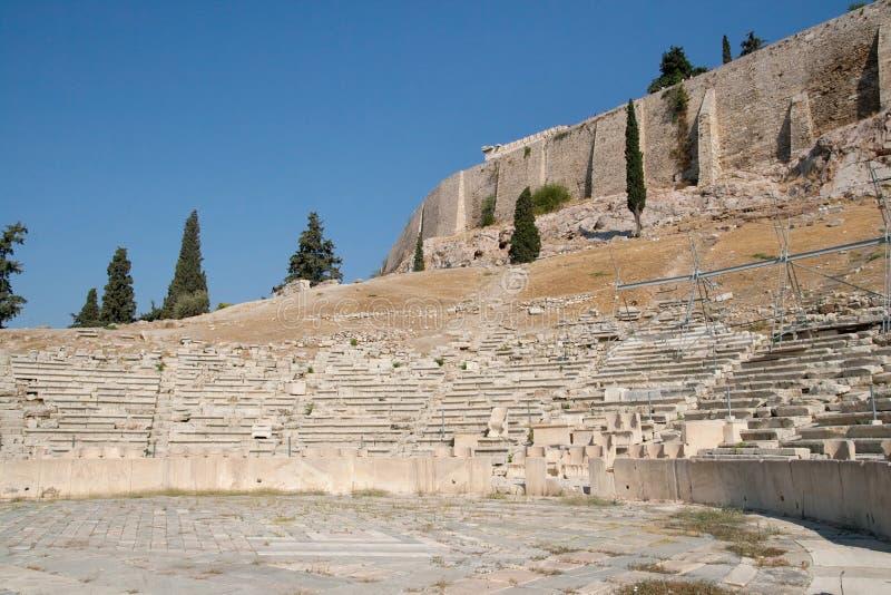 Theater van Dionysus stock fotografie
