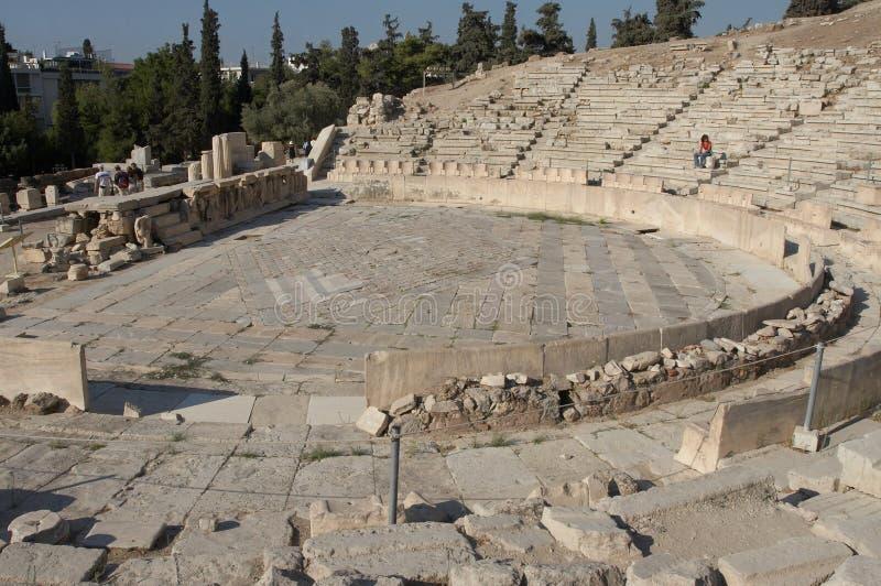 Theater van Dionysus stock foto's