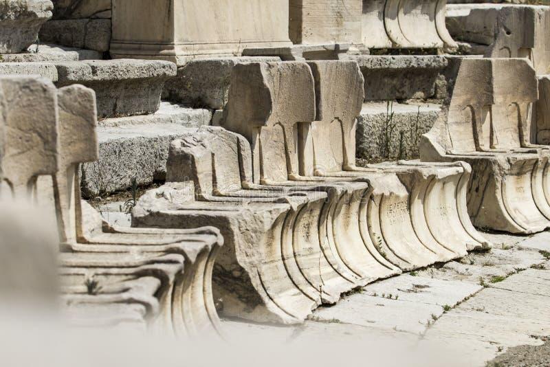 Theater van Dionysus royalty-vrije stock foto's