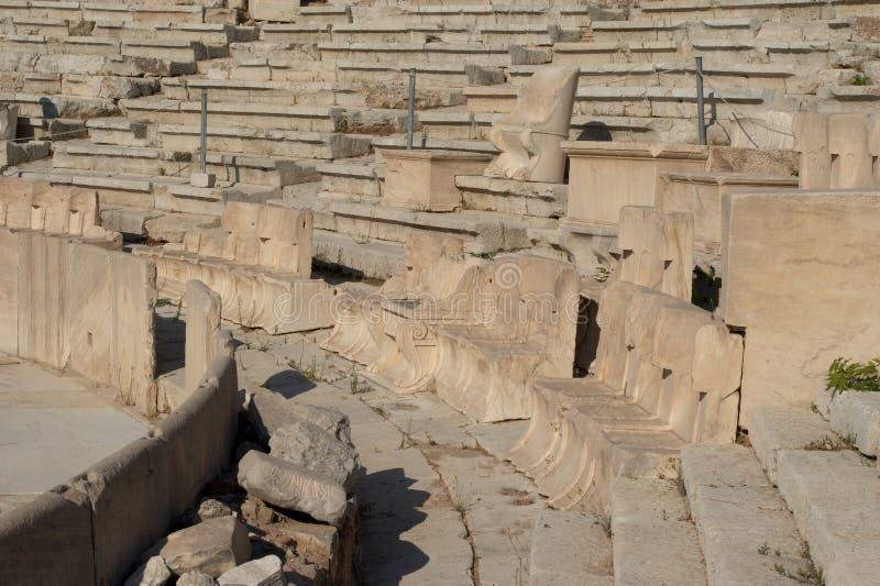 Theater van Dionysus stock afbeelding