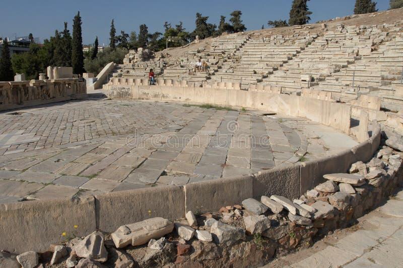 Theater van Dionysus royalty-vrije stock fotografie