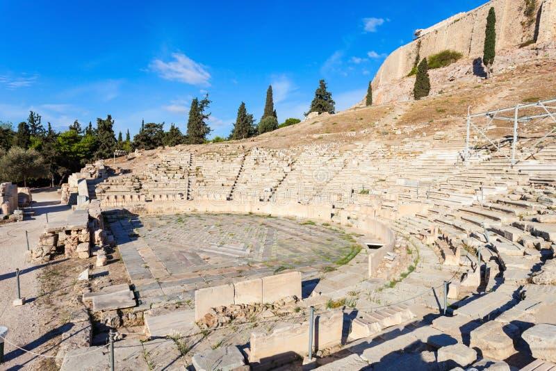 Theater van Dionysus, Akropolis stock foto's