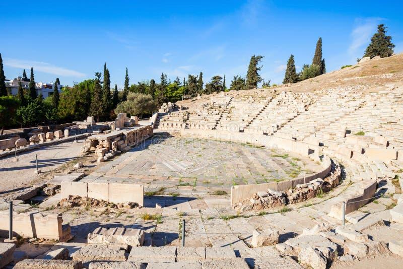 Theater van Dionysus, Akropolis stock fotografie