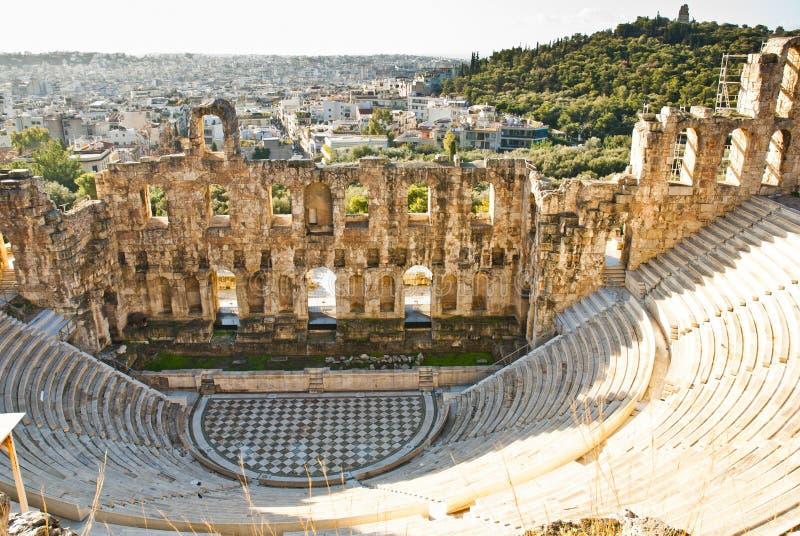 Theater van Dionysus - Athene Griekenland stock fotografie