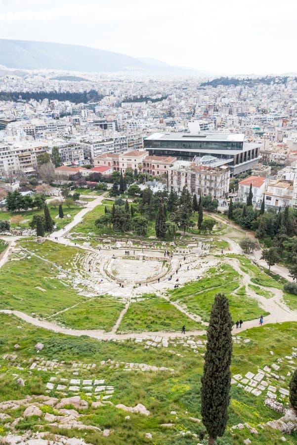 Theater van Dionysus royalty-vrije stock afbeeldingen