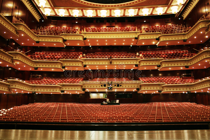 Download Theater venue stock photo. Image of lined, perform, closes - 3306282