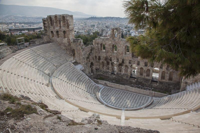 Theater von Dionysus in Athen lizenzfreies stockfoto