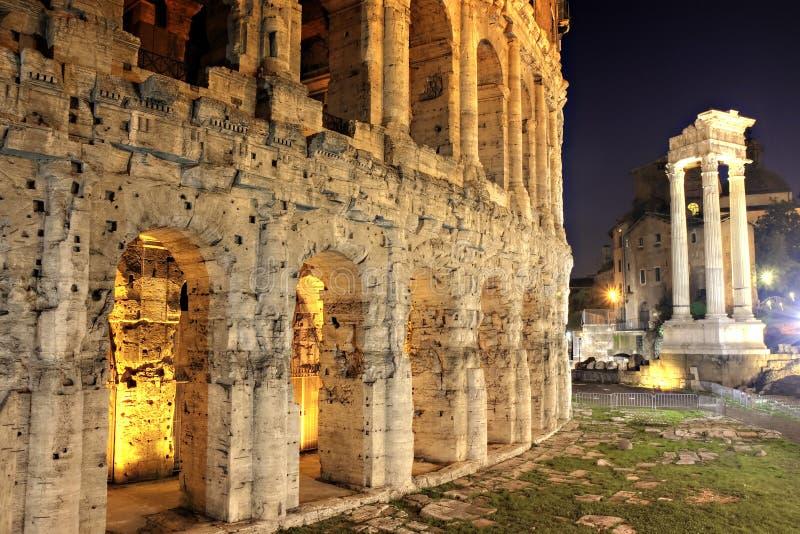 Theater von Marcellus, Rom lizenzfreie stockbilder