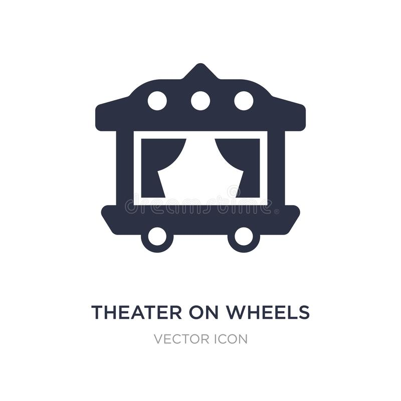 theater on wheels icon on white background. Simple element illustration from Transport concept vector illustration
