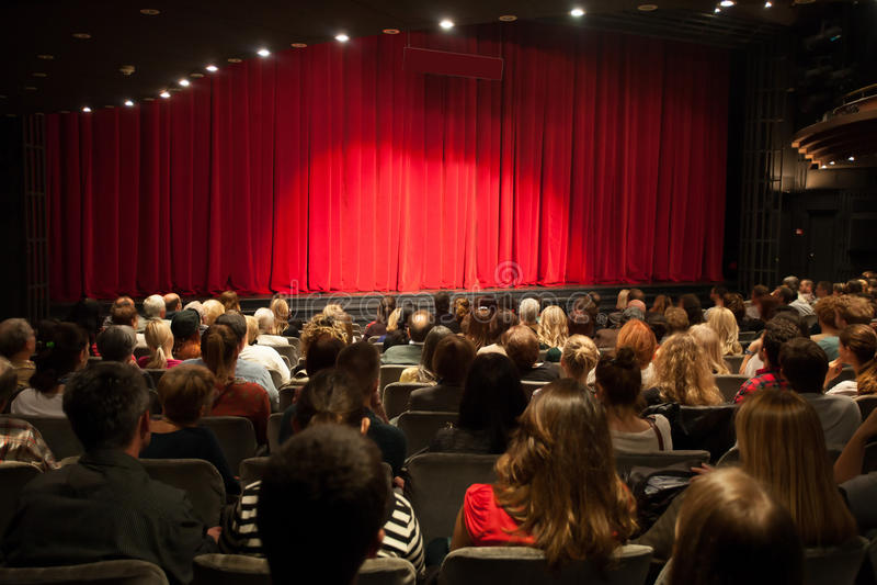 Theaterbinnenland stock afbeeldingen