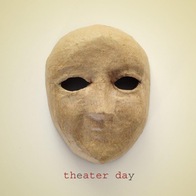 Theaterdag, met een retro effect royalty-vrije stock foto's