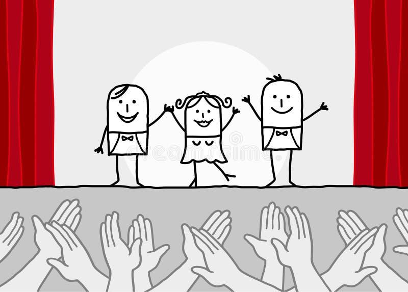 Theatererscheinen u. klatschende Hände