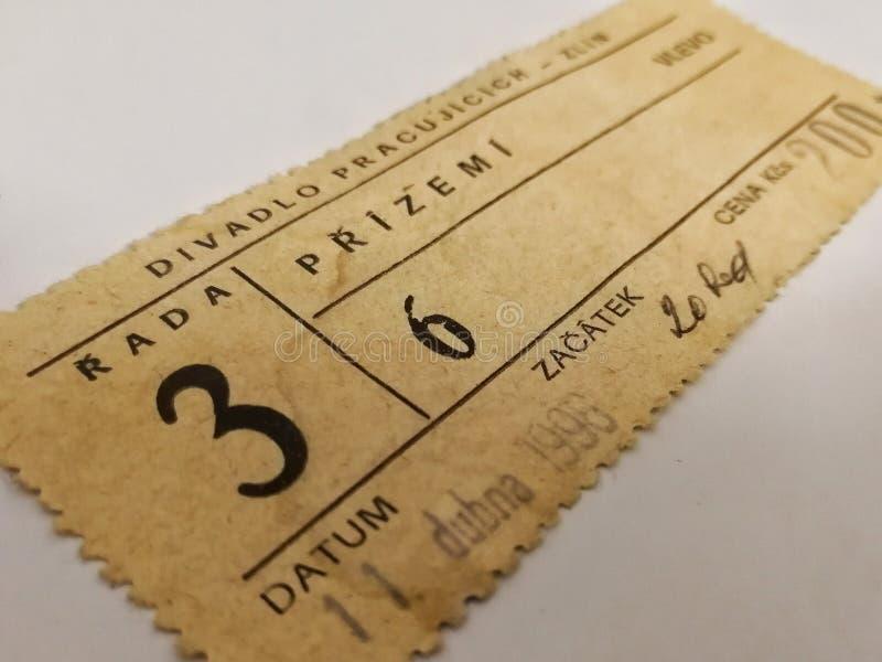 Theaterkarte lizenzfreies stockbild
