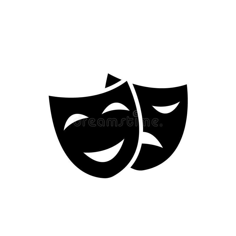 Theatermasker - Vector royalty-vrije illustratie