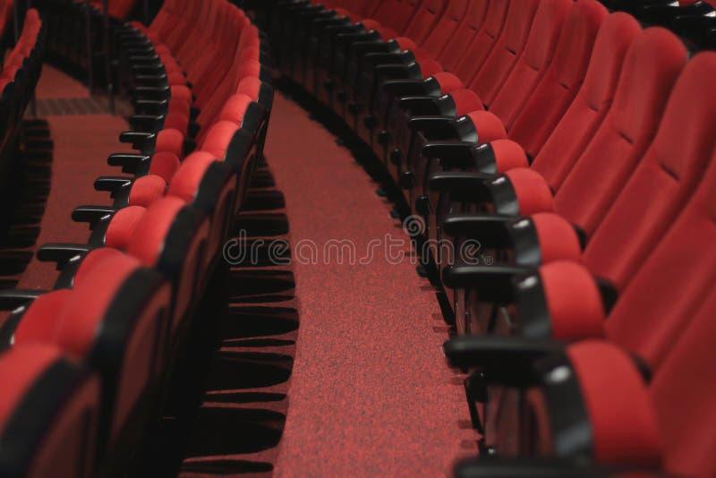 Theatersitze lizenzfreie stockbilder