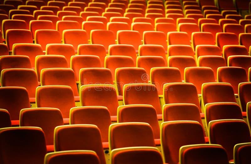 Theaterstühle lizenzfreies stockbild