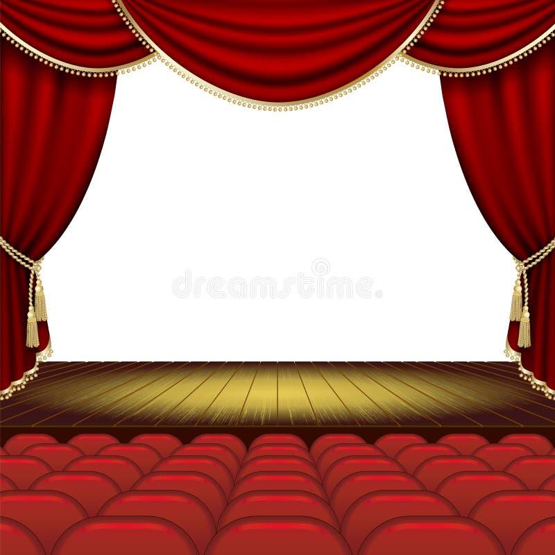 Theaterstadium stock abbildung