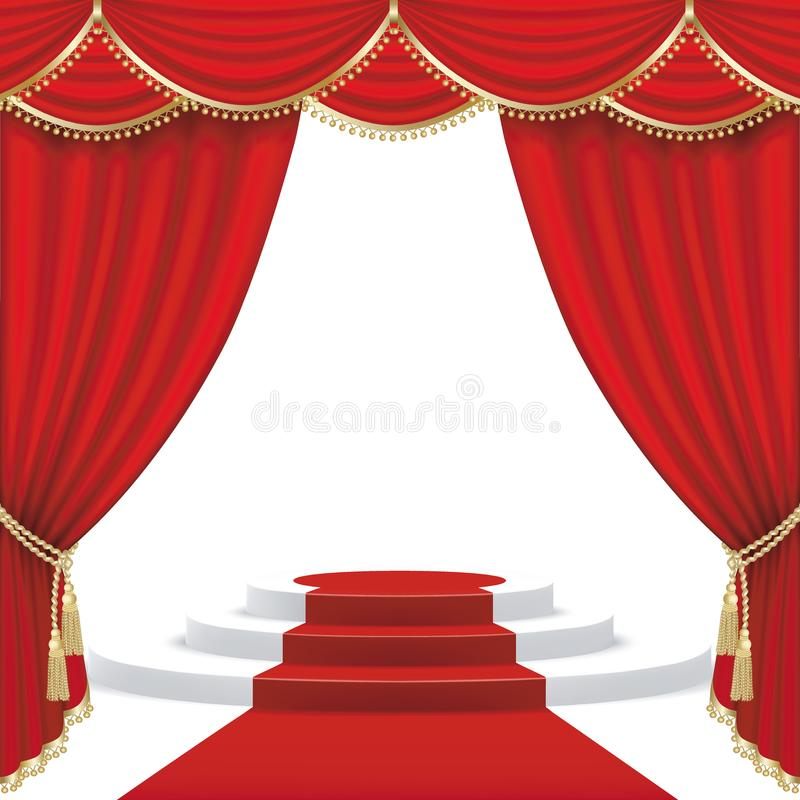 Theaterstadium ineinandergreifen stock abbildung