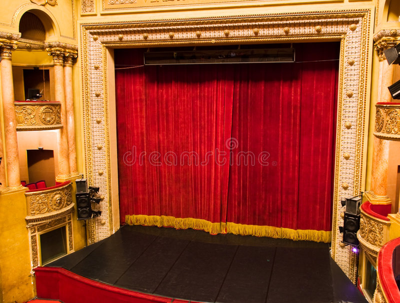 Theaterstufe stockfoto