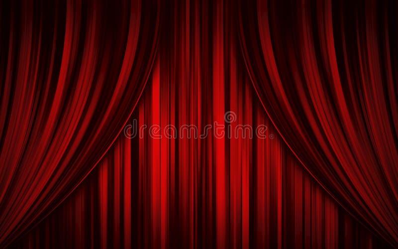 Theaterstufetrennvorhang lizenzfreie stockfotografie
