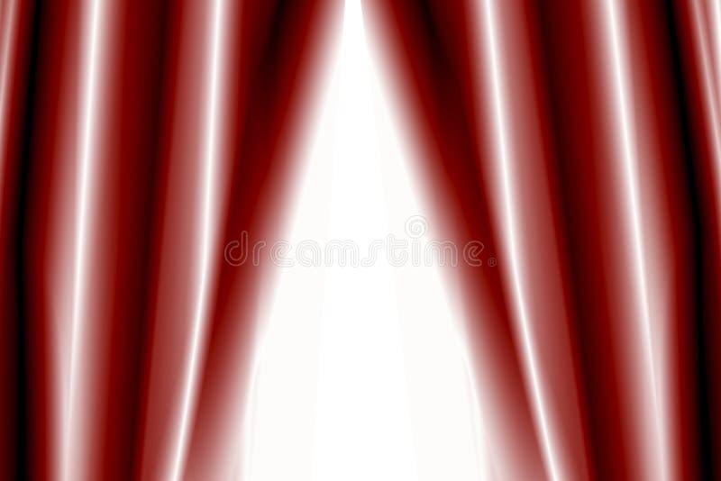 Theatertrennvorhänge halb offen vektor abbildung