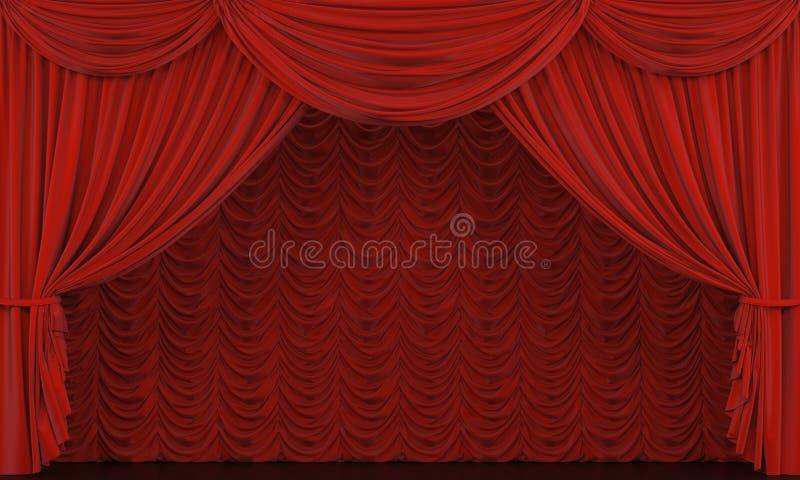 Theatertrennvorhang. vektor abbildung
