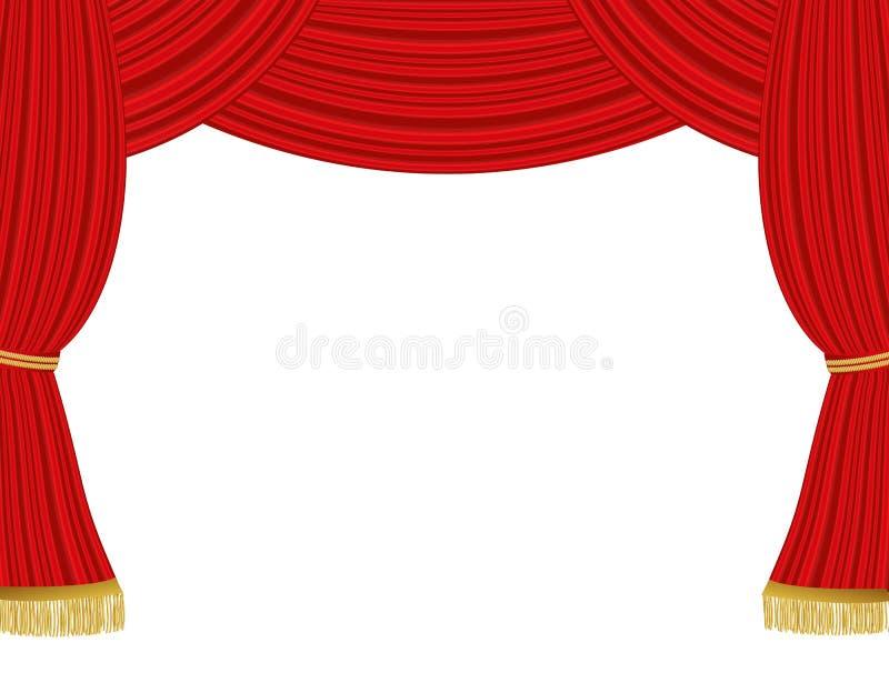 Theatervorhanghintergrund lizenzfreie abbildung