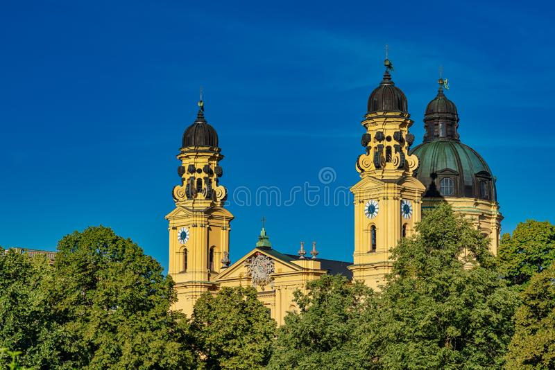 The Theatine Church of St. Cajetan in Munich, Germany. The Theatine Church of St. Cajetan - Theatinerkirche St. Kajetan, a Catholic church in Munich, founded by stock photography