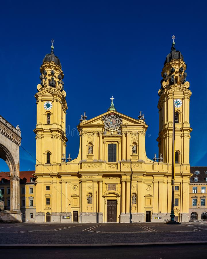 The Theatine Church of St. Cajetan in Munich, Germany. The Theatine Church of St. Cajetan - Theatinerkirche St. Kajetan, a Catholic church in Munich, founded by stock image
