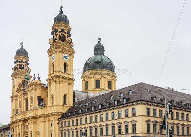 The Theatine Church of St. Cajetan Theatinerkirche St. Kajetan. A Catholic church in Munich, founded by Elector Ferdinand Maria and his wife, Henriette stock photos