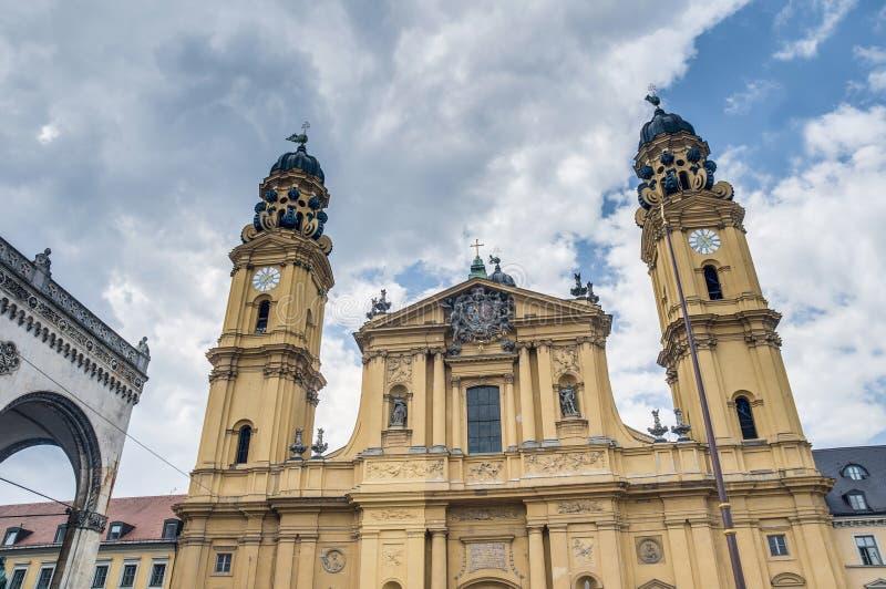 Theatinerkirche St. Kajetan in München, Duitsland royalty-vrije stock fotografie