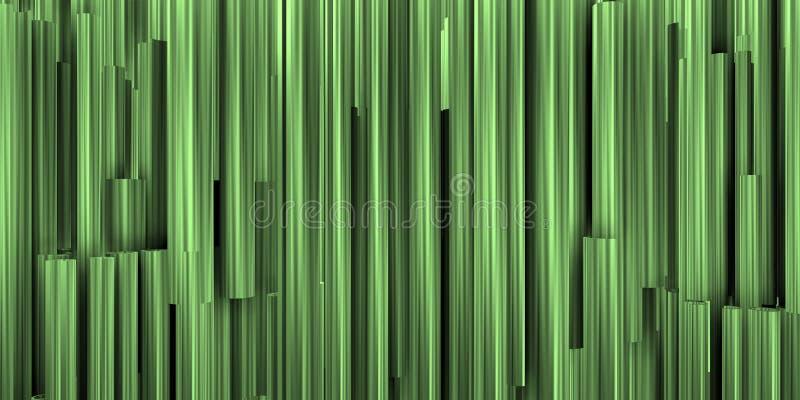 Theatrale achtergrond met samenstelling van groenachtige en metaalbuizen royalty-vrije stock foto's