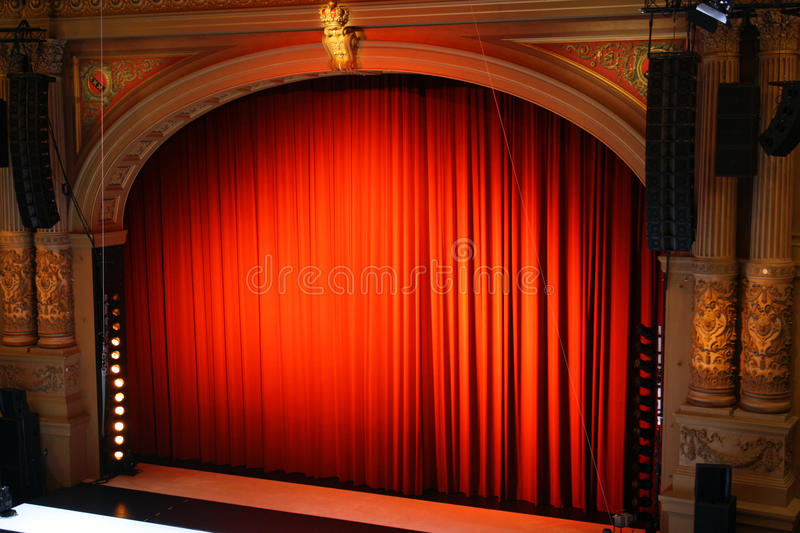 Download Theatre stock photo. Image of curtains, spotlight, arts - 11999250