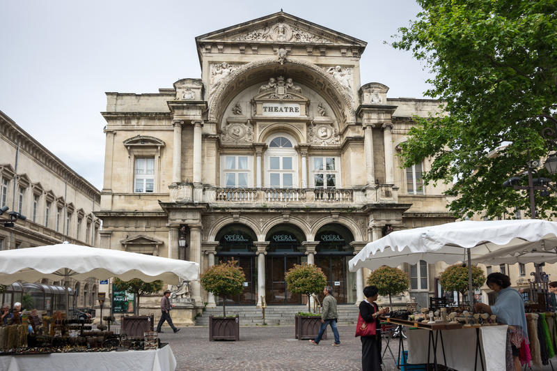 Theatre in Avignon royalty free stock images