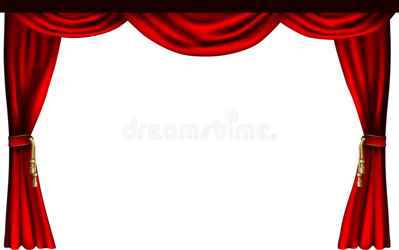 Theatre Or Cinema Curtains Stock Vector. Image Of Fabric