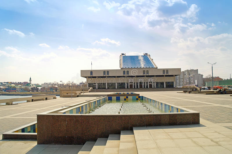 Download Theatre is in city Kazan stock image. Image of municipal - 38190229