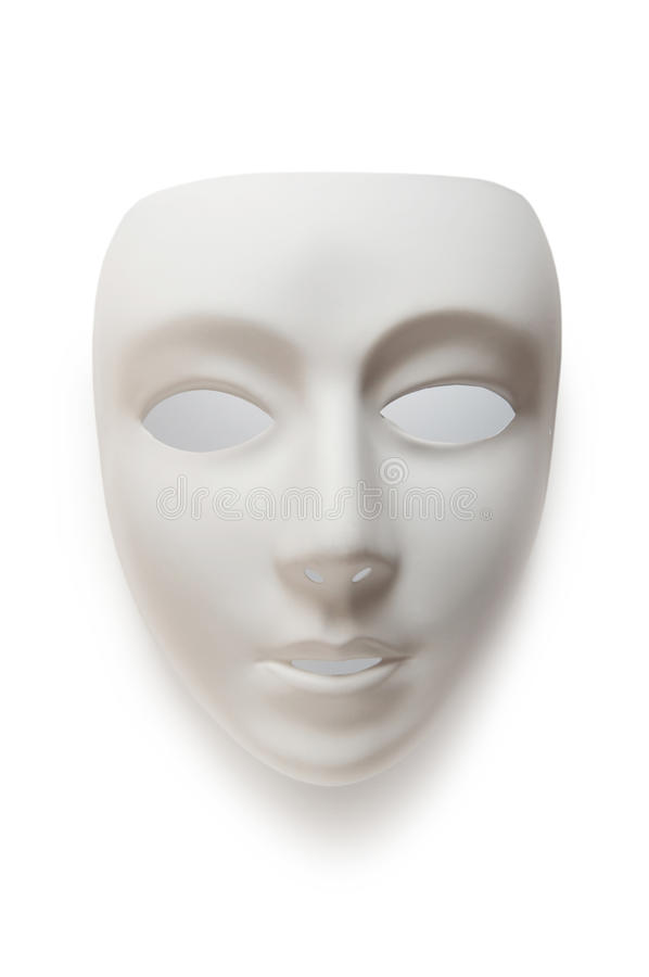 Theatre concept - white masks royalty free stock images