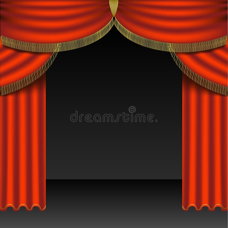 Download Theatre Courtains 04 stock vector. Image of vector, illustration - 1760262