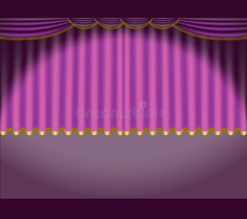 Theatre Courtains 05 Royalty Free Stock Image
