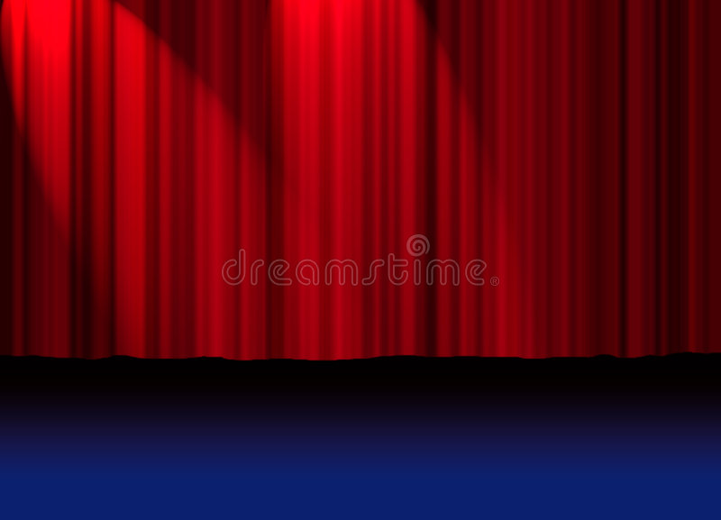 Theatre Curtain Royalty Free Stock Image