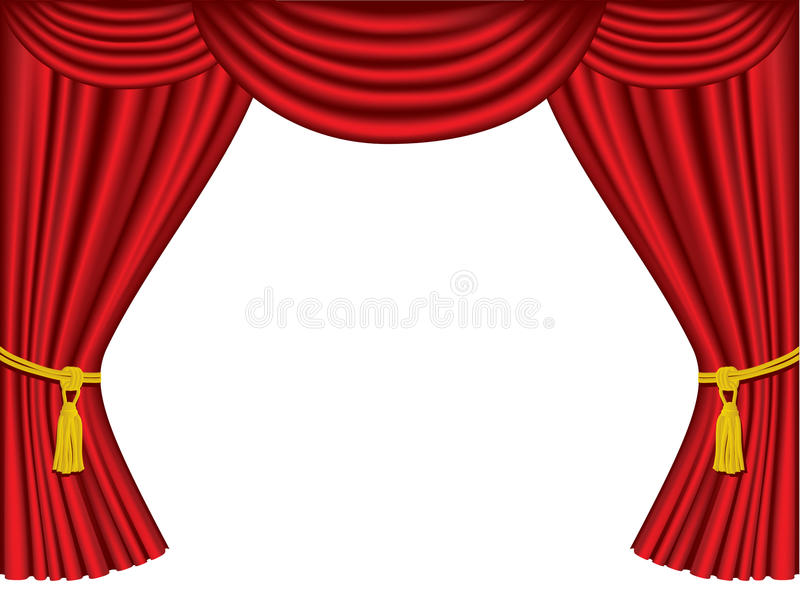 Theatre curtains with copy space stock vector for Theatre curtains psd