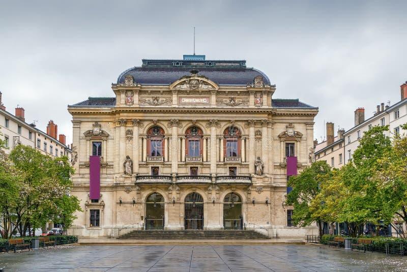 Theatre des Celestins, Lyon, France. Theatre des Celestins is a theatre building on Place des Celestins in Lyon, France royalty free stock images
