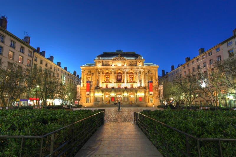 Theatre des Celestins, Lyon, Frankrijk stock afbeelding