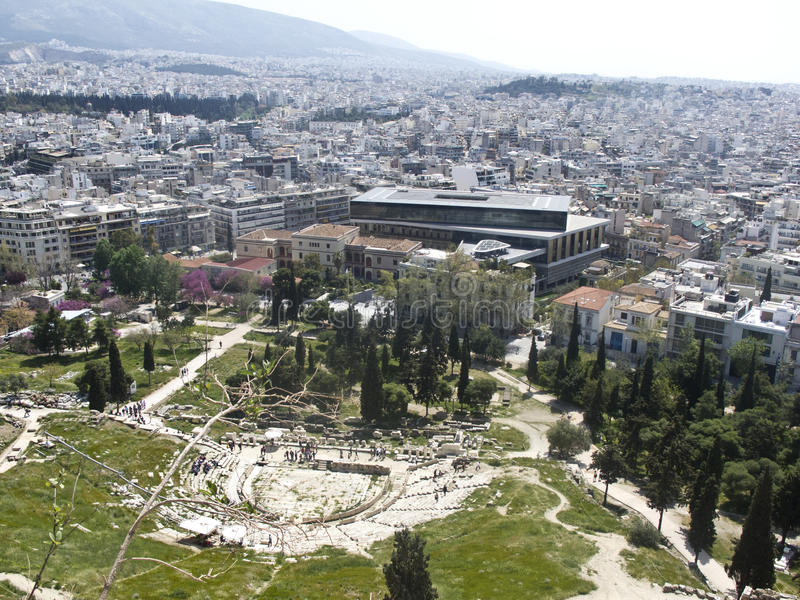 Download Theatre Of Dionysus And Acropolis Museum Stock Photo - Image of acropolis, findings: 25312738
