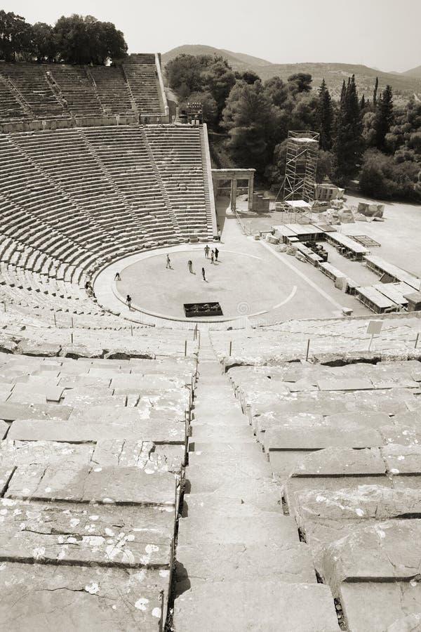 Theatre of Epidaurus, Greece royalty free stock photo