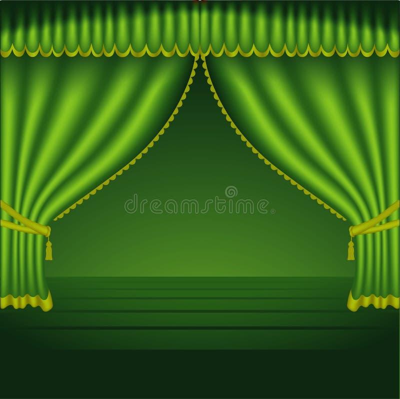 theatre för 02 courtains royaltyfri illustrationer