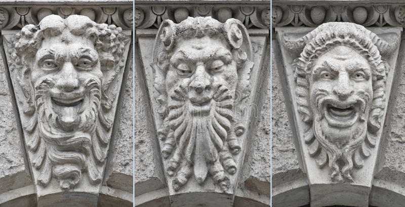 Download Theatre Faces Low Relief With Emotions Stock Image - Image: 17575865
